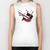 kandinsky Biker Tanks featuring STARSHIP by THE USUAL DESIGNERS