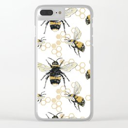 Bees an Honeycombs Clear iPhone Case