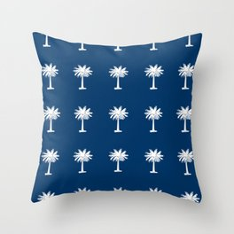 Palmetto 2-palms,drupe,sabal,swamp,cabbage,abanico,drupa,palmera Throw Pillow