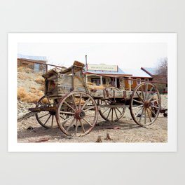 Old Wagon in Belmont Ghost Town, Central Nevada Art Print