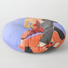 Lovers Dancing Floor Pillow