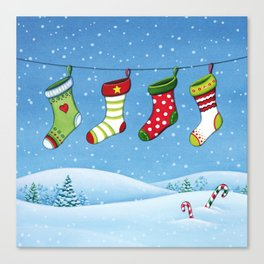 Christmas stockings Canvas Print