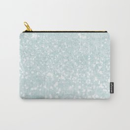 Elegant blush mint green white glam abstract glitter Carry-All Pouch