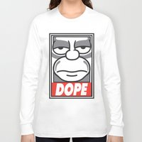 homer Long Sleeve T-shirts featuring Dope Homer by MaNia Creations