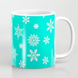 Snow Flurries-Frosty Blue Coffee Mug
