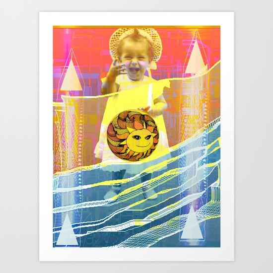 She plays with the sun / PRINCESS 23-07-16 Art Print