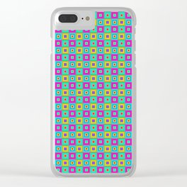 PATTERN SQAURES Clear iPhone Case