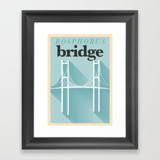 Minimal Bosphorus Bridge Poster Framed Art Print