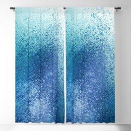 Ocean Splash Aqua Blue Paint Splatter Blackout Curtain