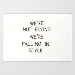 Not Flying. Falling In Style - Lightyear Art Print