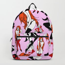 Black Blonde Redhead Backpack