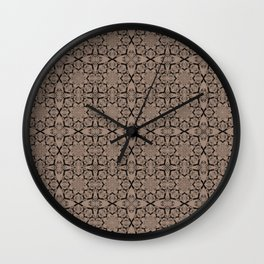 Warm Taupe Geometric Wall Clock