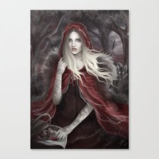 Red Riding Hood (Chaperon Rouge) Canvas Print