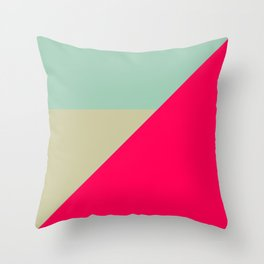 Modern Color Block Geometric Shapes  Throw Pillow