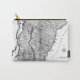Vintage Map of Vermont (1814) BW Carry-All Pouch