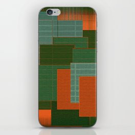 Orange Color Geometry iPhone Skin