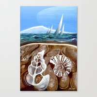 geology Canvas Prints featuring The Geology of Boating by Patricia Howitt