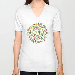 Summer Vegetable Garden Unisex V-Neck
