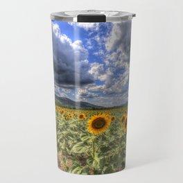 Sunflower Summer Field Travel Mug