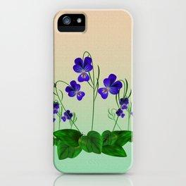 Blue Violets iPhone Case