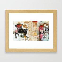 Bare Square Framed Art Print