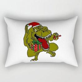 Christmas Crazy Dinosaur Rectangular Pillow