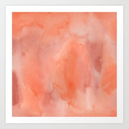 Abstract hand painted terracotta watercolor Art Print