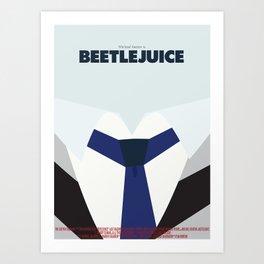 Beetlejuice - Minimalist Poster Art Print