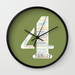 Life Path 4 (color background) Wall Clock