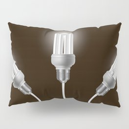Energy saving bulbs with cords Pillow Sham
