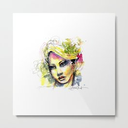 Abstract watercolor portrait Metal Print