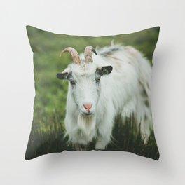 Funny Goat Throw Pillow