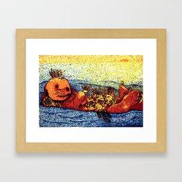 Terrarium Otter Framed Art Print