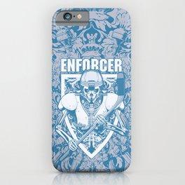 Enforcer Ice Hockey Player Skeleton iPhone Case