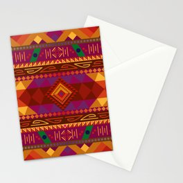 Native American Warm Pattern Design Stationery Cards