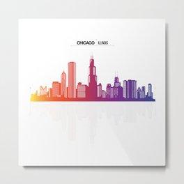 Chicago City Of Illinois USA Metal Print