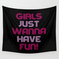 girls Wall Tapestries featuring Girls by I Love Decor