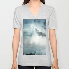 Modern Abstract Art Shattered Illusions Cool And Unique Unisex V-Neck