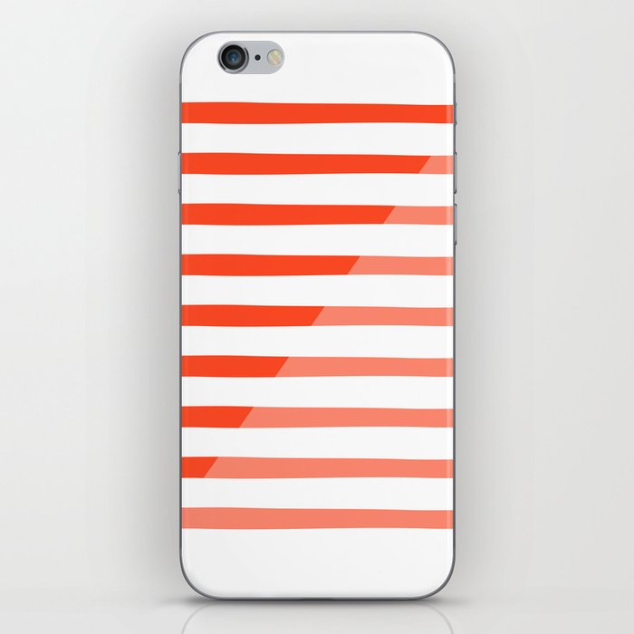 Beach Stripes Red Pink iPhone Skin