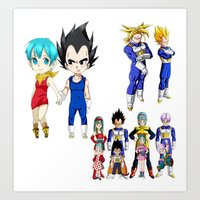 vegeta Art Prints featuring Vegeta FAMILY  by Lee Chao Charlie Vang
