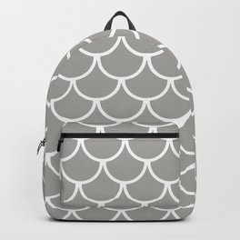 Grey Fish Scales Pattern Backpack
