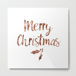 Rose gold Christmas Metal Print