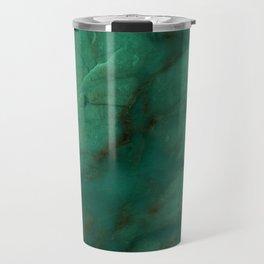 Hunter Green Marble Travel Mug