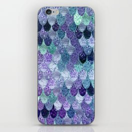 SUMMER MERMAID  Purple & Mint by Monika Strigel iPhone Skin