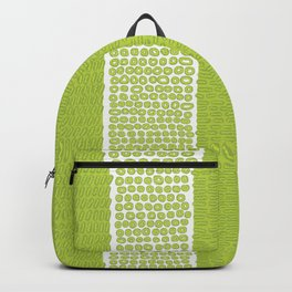 Green & White Watercolor Pattern Backpack