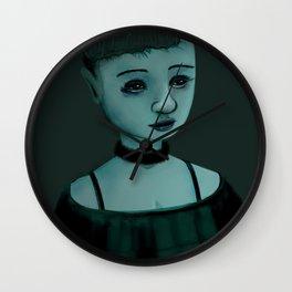 Night Girl II Wall Clock