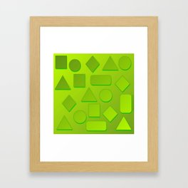 0807 Play with gradient and forms 3 ... Framed Art Print