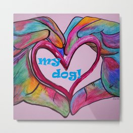 I Heart my Dog Metal Print