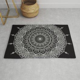 Mandala Black&White Rug