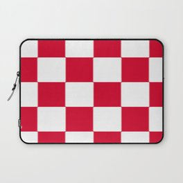Red and white zig zag checkered artwork Laptop Sleeve